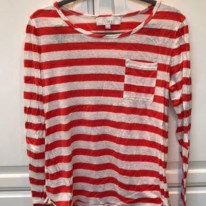 LOFT - cotton linen blend shirt.